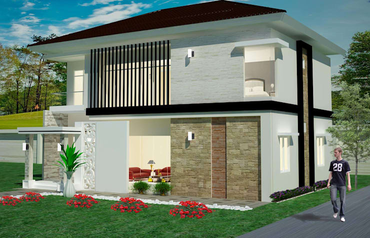 Rumah Tinggal 2 Lantai - joglo:  Rumah by Adhicitta Karya Megah