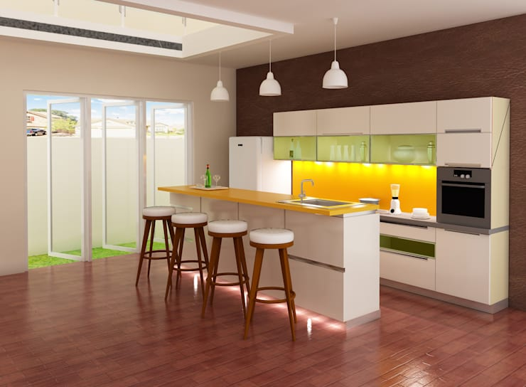 Rumah Tinggal 2 Lantai – joglo:  Kitchen by Adhicitta Karya Megah