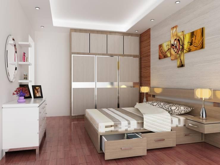 Rumah Tinggal 2 Lantai – joglo:  Bedroom by Adhicitta Karya Megah