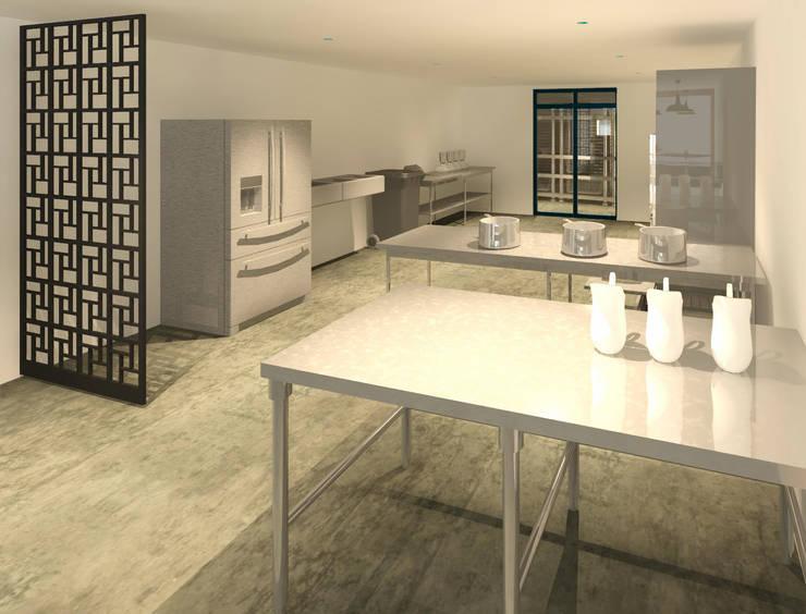 Cocina industrial : Cocinas de estilo moderno por Perfil Arquitectónico