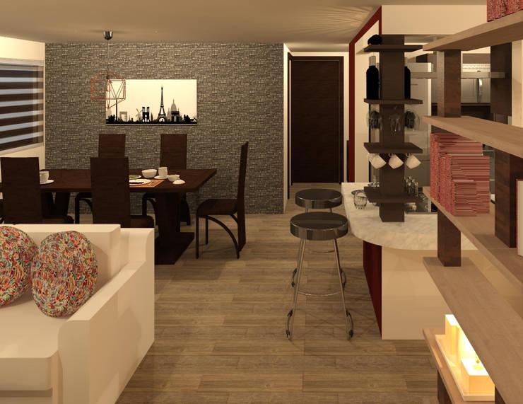 Comedor: Comedores de estilo  por Perfil Arquitectónico