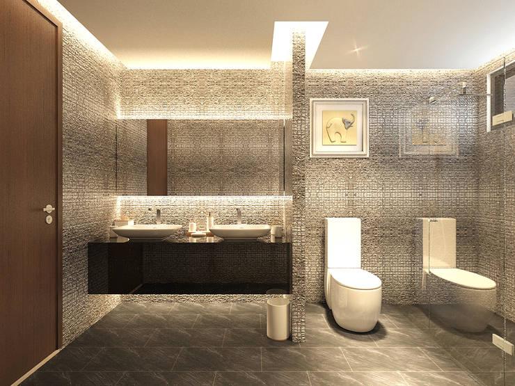 Phòng tắm by PT. Dekorasi Hunian Indonesia (DHI)