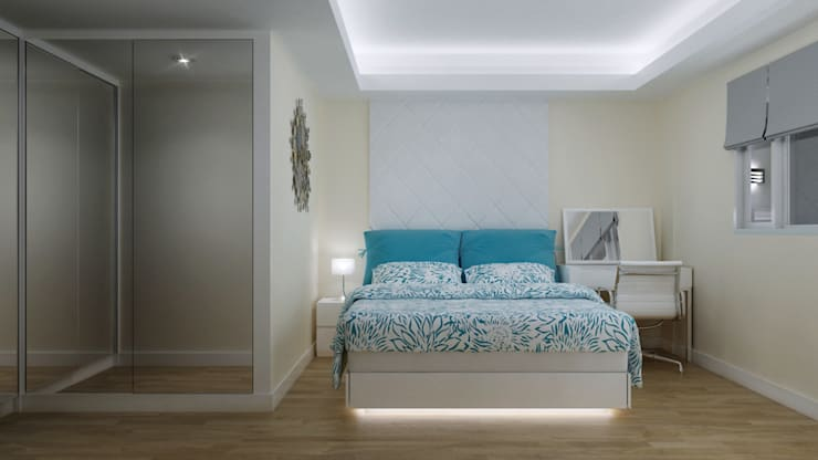 SMART DESIGN FOR LIMITED SPACE @ THE WAVE, EPICENTRUM, KUNINGAN:  Kamar Tidur by PT. Dekorasi Hunian Indonesia (DHI)