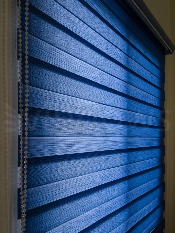 Combi Blinds:  Windows & doors  by Vindows Blinds & Curtains