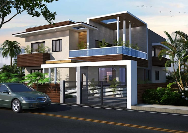 Arvind residence:  Villas by S. KALA ARCHITECTS,Modern