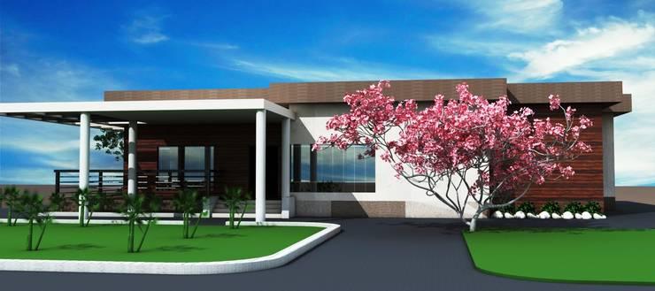 Mittal residence:  Villas by S. KALA ARCHITECTS,Modern