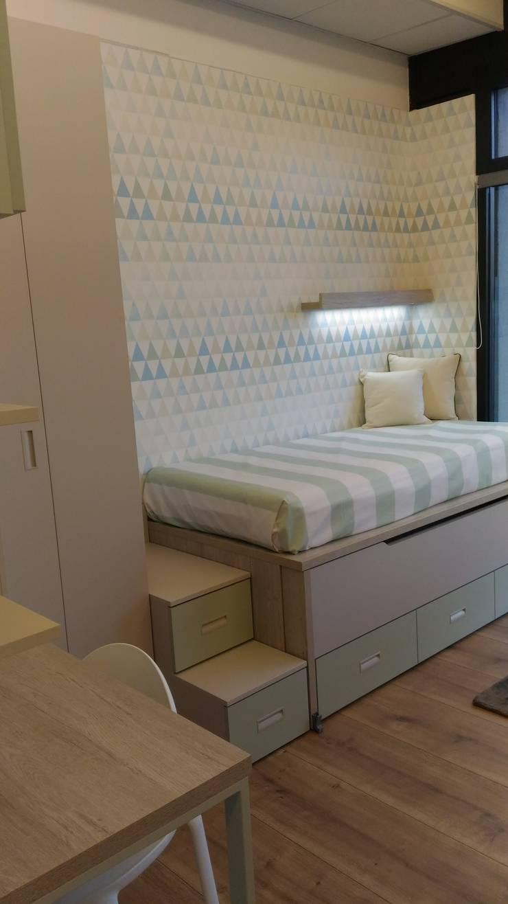 Cameretta per 2 bambini con letto estraibile von Spaziojunior | homify