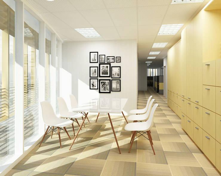WARM AND OPEN SPACE OFFICE @ SEMANGGI:  Kantor & toko by PT. Dekorasi Hunian Indonesia (DHI)