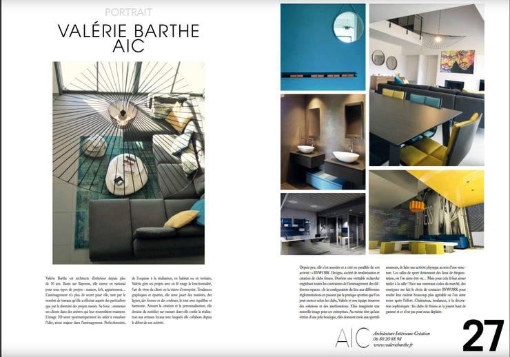 parution Mme Presse Deco: Salon de style  par VALERIE BARTHE AiC