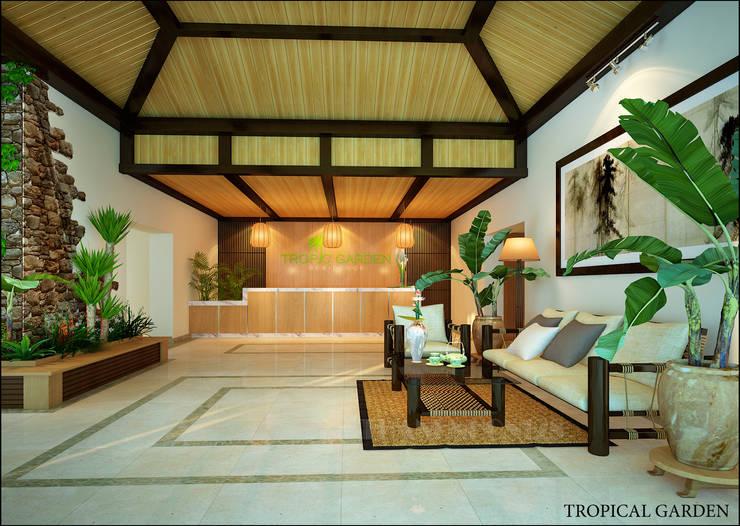 Tropical Garden:   by NQ décor