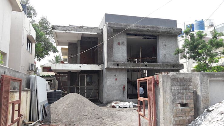 External Plastering:  Bungalows by Cfolios Design And Construction Solutions Pvt Ltd,Modern