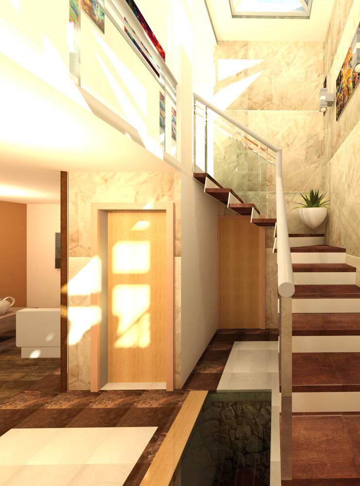 Escaleras de estilo  por Perfil Arquitectónico