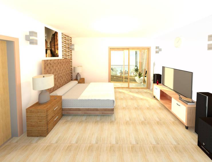 Dormitorios de estilo  por Perfil Arquitectónico