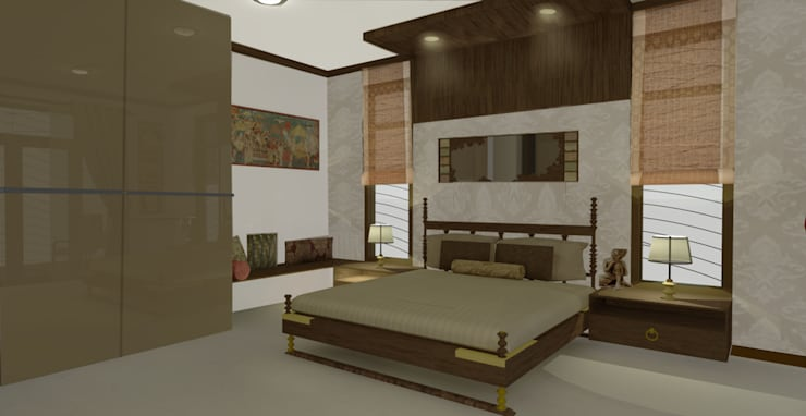 Home interiors: modern Bedroom by ergate