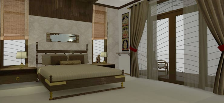 Home interiors:  Bedroom by ergate