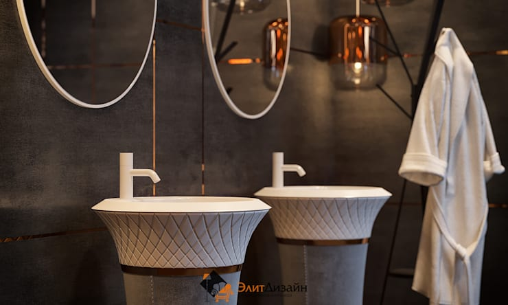 Bathroom by ЭлитДизайн - студия дизайна интерьера