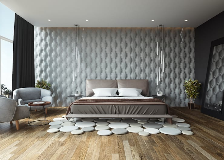 Cuartos de estilo  por Adriel Padilla Arquitectos