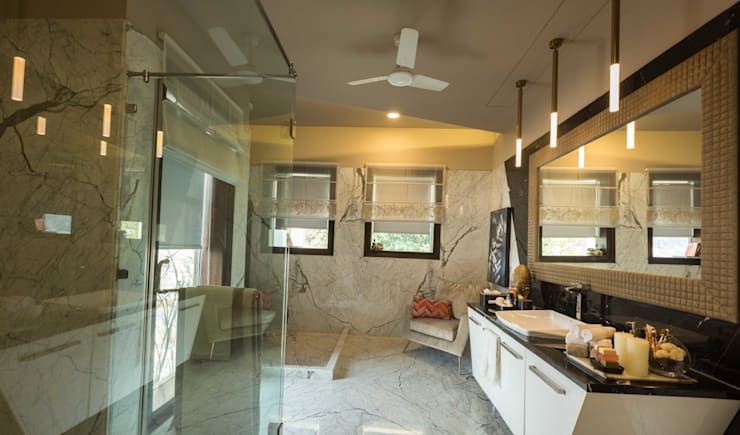 Luxurious Home Lighting Project in Delhi:  Bathroom by Jainsons Emporio