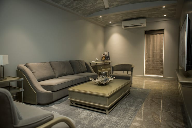 Drawing room : view 1: modern Living room by DESIGNER'S CIRCLE