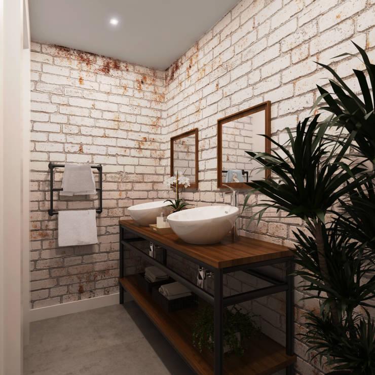 Baños de estilo  por Entreponto Arquitetura