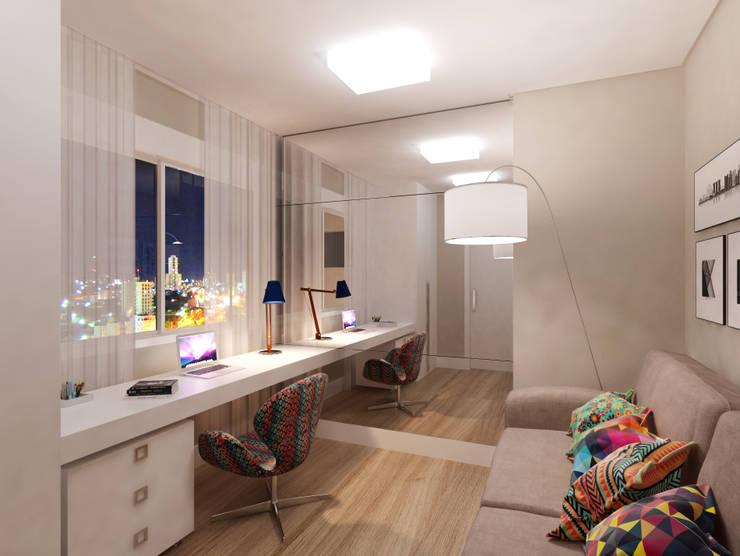 Apartamento 03: Escritórios  por Entreponto Arquitetura