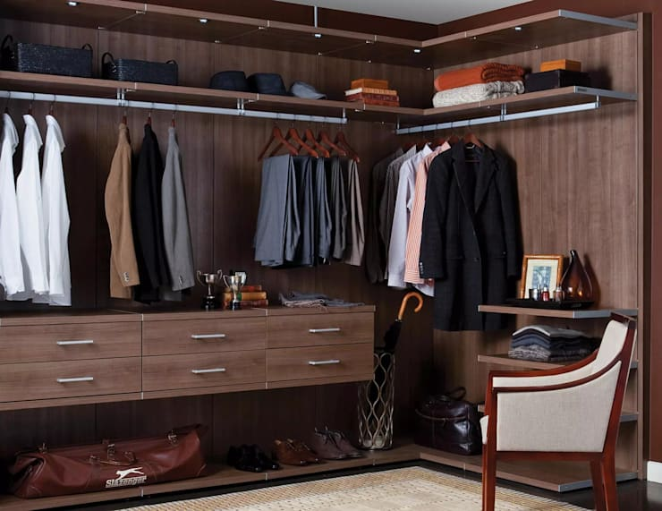 How to Create a Walk-in Closet From Scratch:  Dressing room by Ian Lewis