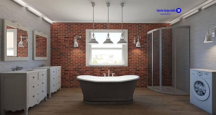 Bathroom in Loft Style:  Bathroom by 'Design studio S-8'