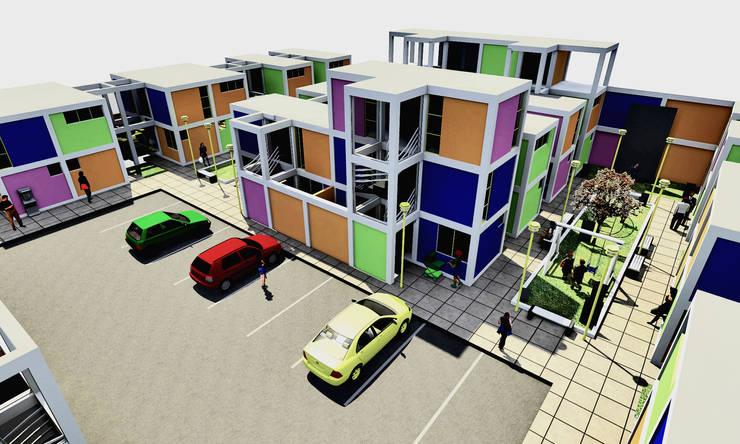 Concurso de vivienda Arkinka, Lima: Dormitorios de estilo  por CARLOS SOTO ARQUITECTO