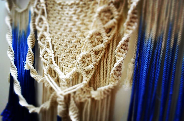 WALL HANGING: rustic  by COPPER FRINGE,Rustic Natural Fibre Beige