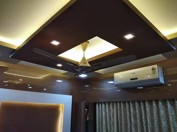 false celling:  Flat roof by KUMAR INTERIOR THANE,Modern