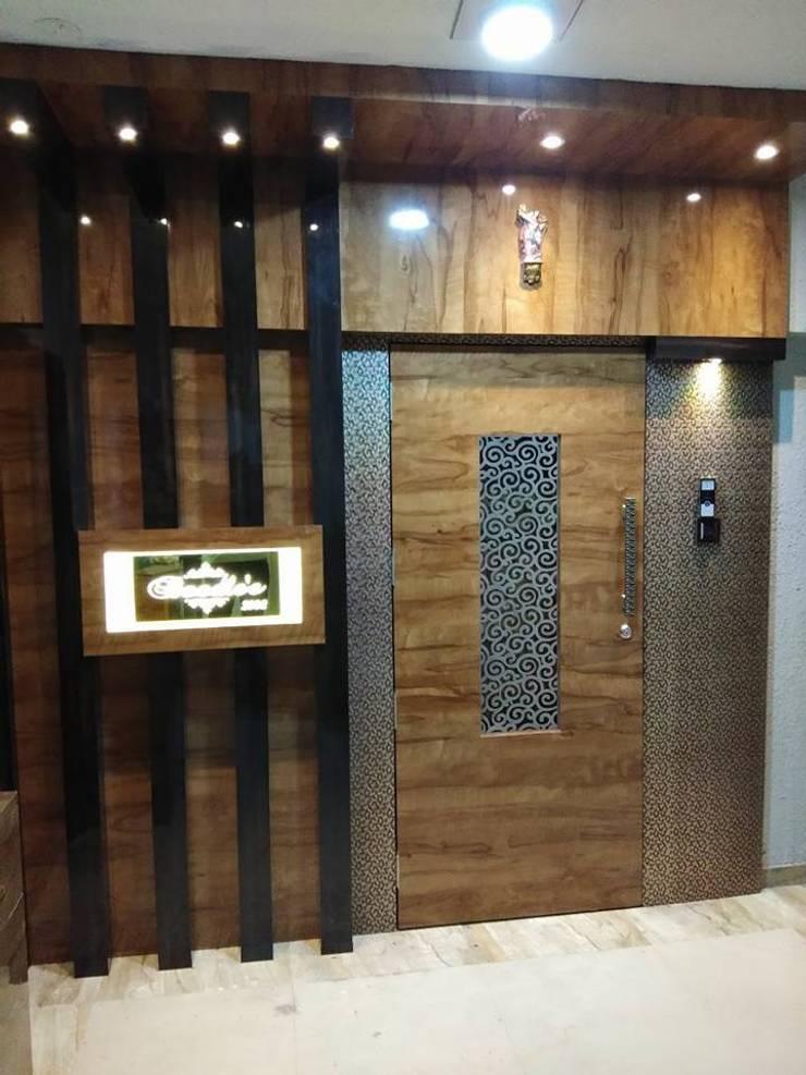 main door:  Doors by KUMAR INTERIOR THANE,Modern
