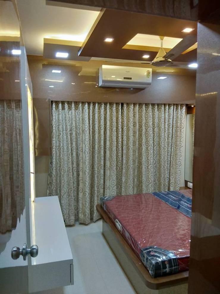 bedroom interior:  Bedroom by KUMAR INTERIOR THANE,Modern