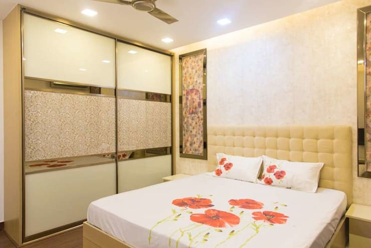 bedroom walldrop: modern Bedroom by KUMAR INTERIOR THANE