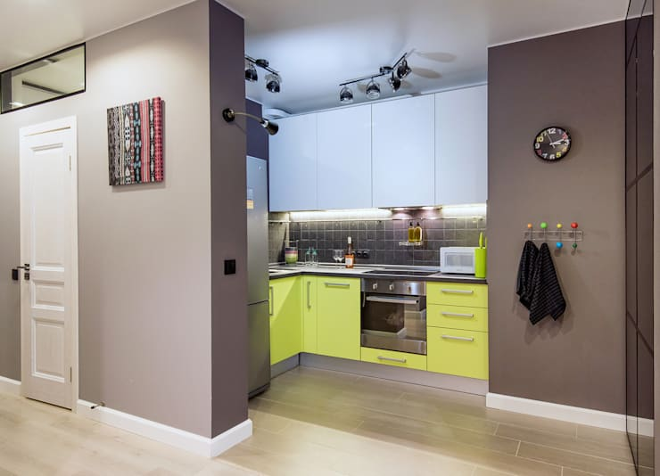 Квартира в Подмосковье 53 м2: Кухни в . Автор – ST-buro