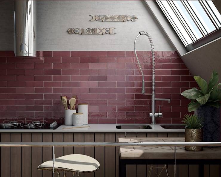 Bếp xây sẵn theo Equipe Ceramicas, Địa Trung Hải gốm sứ