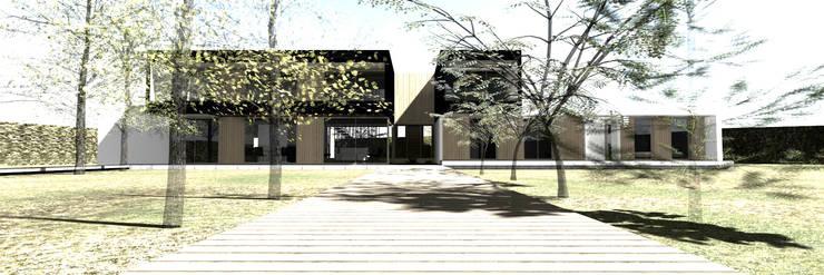Casa CS - Chicureo II: Casas unifamiliares de estilo  por proyecto arquitek