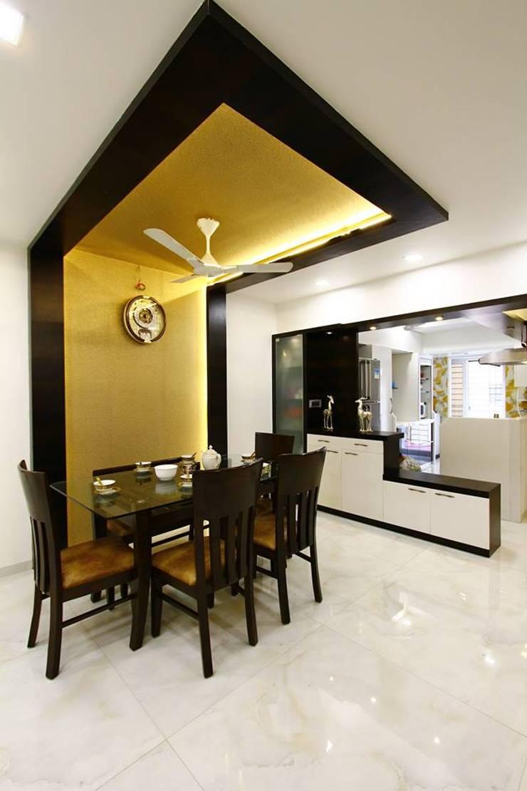 Mr.Ram & Mrs.Lajja Sanghvi:  Dining room by PSQUAREDESIGNS,Modern