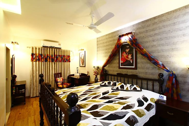 Dr.ramesh/Bhavna Bhanushali :  Bedroom by PSQUAREDESIGNS