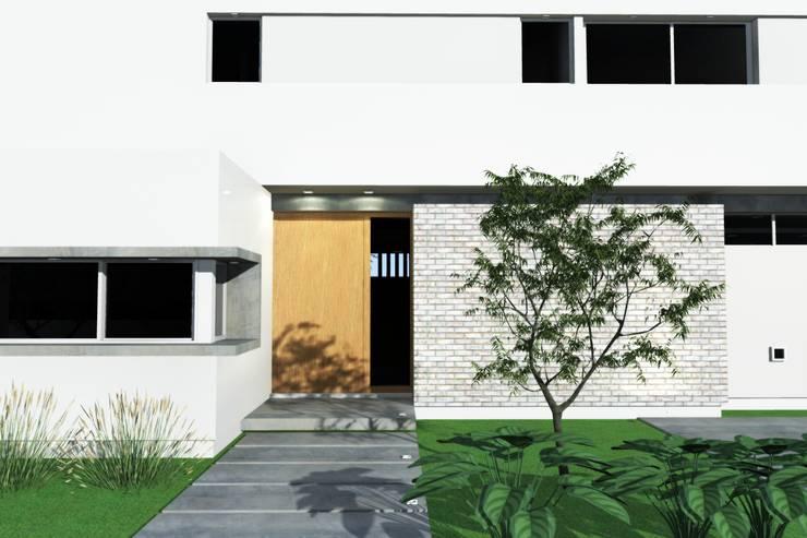 Acceso principal: Puertas de entrada de estilo  por Arquitectura Bur Zurita,