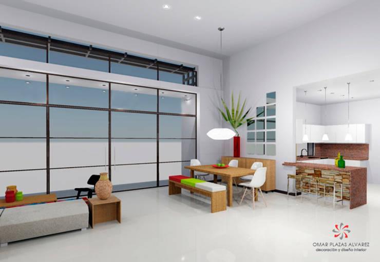 Salas moderna:  de estilo  por Omar Interior Designer  Empresa de  Diseño Interior, remodelacion, Cocinas integrales, Decoración