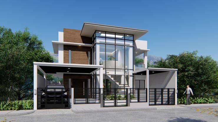 2 STOREY KUBO HOUSE:  Houses by Yaoto Design Studio
