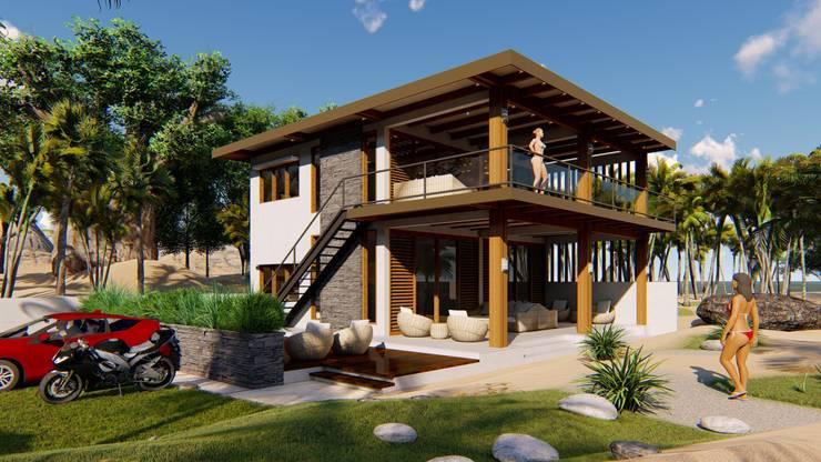 2 STOREY LALAINE BEACH HOUSE:  Houses by Yaoto Design Studio