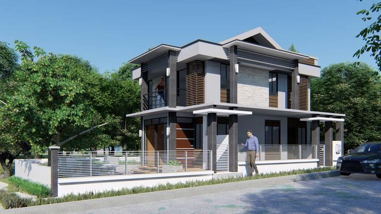 2 STOREY MYRA HOUSE: modern Houses by Yaoto Design Studio