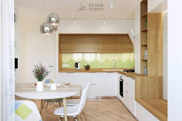 Современное сканди: Кухни в . Автор – Белый Эскиз