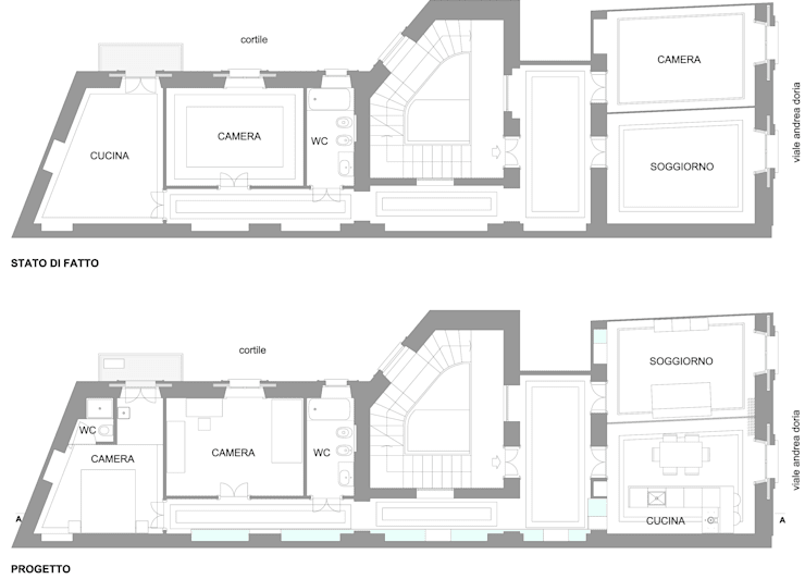 oleh gk architetti  (Carlo Andrea Gorelli+Keiko Kondo), Minimalis