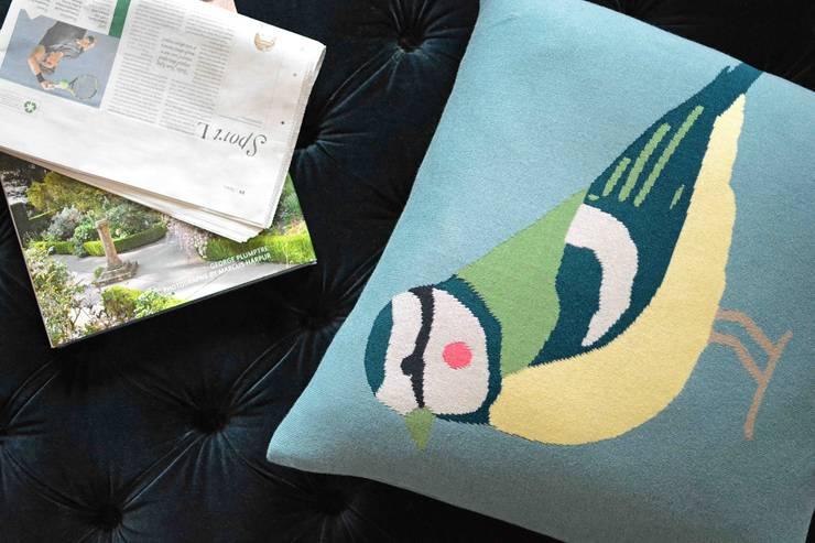 Sophie Allport Garden Birds Statement Cushion:  Living room by Sophie Allport