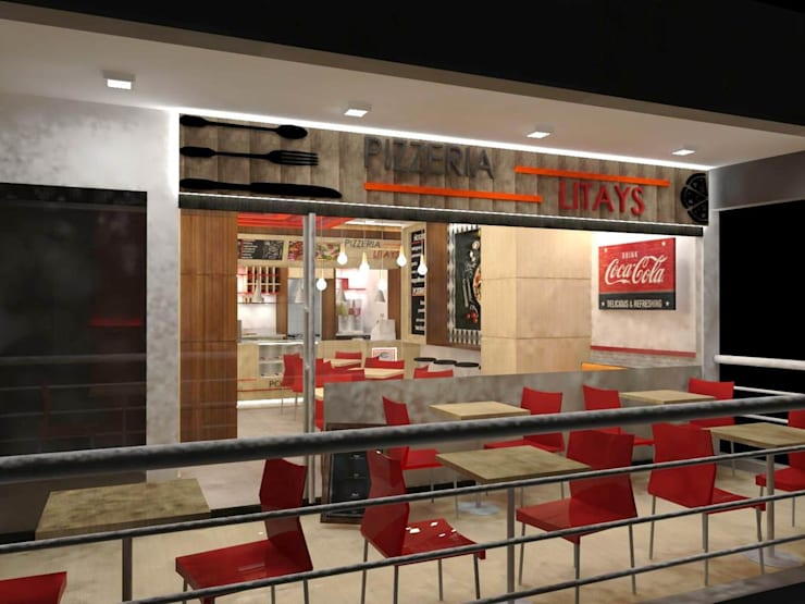 Pizzeria: Espacios comerciales de estilo  por SCABA EQUIPAMIENTO Y ARQUITECTURA COMERCIAL , C.A.