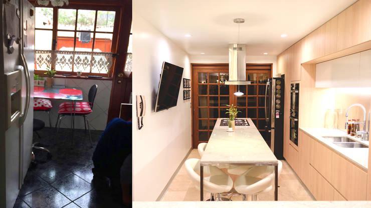 Antes y Después de la Remodelación :  de estilo  por Chetecortés ,