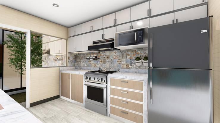 Cocina: Cocinas equipadas de estilo  por Minkarq. Arquitectura y construcción, Moderno