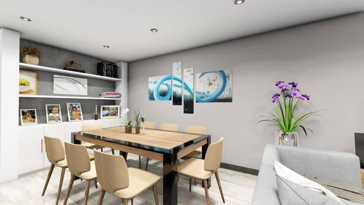 Comedor: Comedores de estilo  por Minkarq. Arquitectura y construcción, Moderno